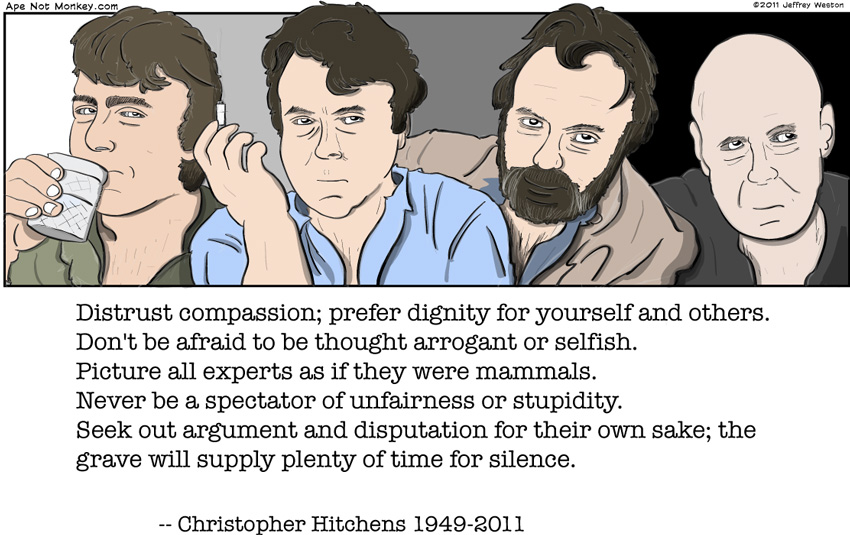 Ape Not Monkey: Farewell to Christopher Hitchens