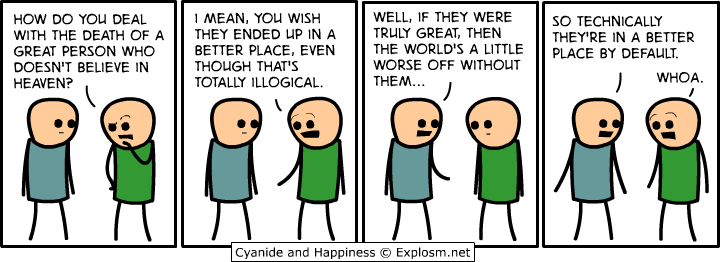Cyanide and Happiness comic strip about better place